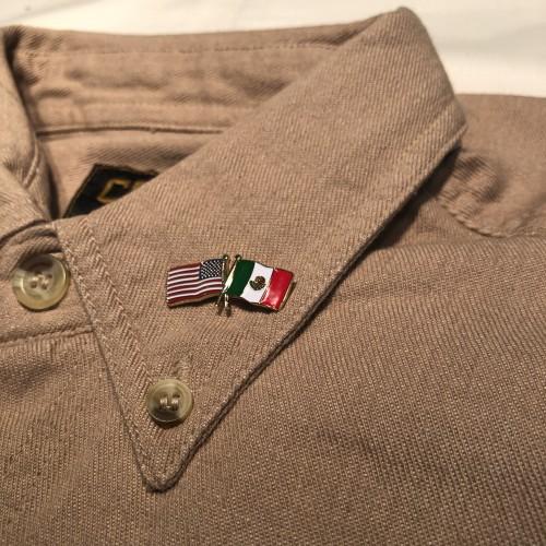US/MX Crossed Flag Lapel Pin