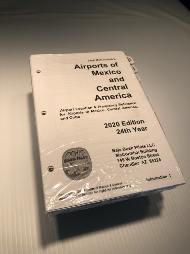 2020 Edition, Airports of Mexico, Central America and Cuba, Inserts only